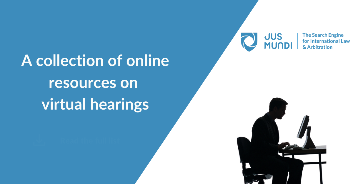 A collection of online resources on virtual hearings