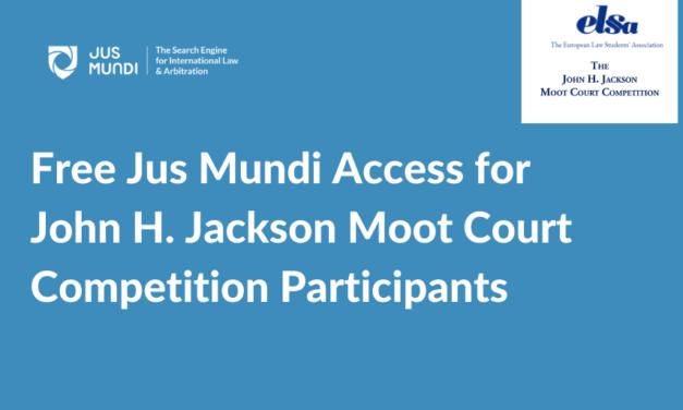 Jus Mundi x ELSA partnership for the John H. Jackson Moot