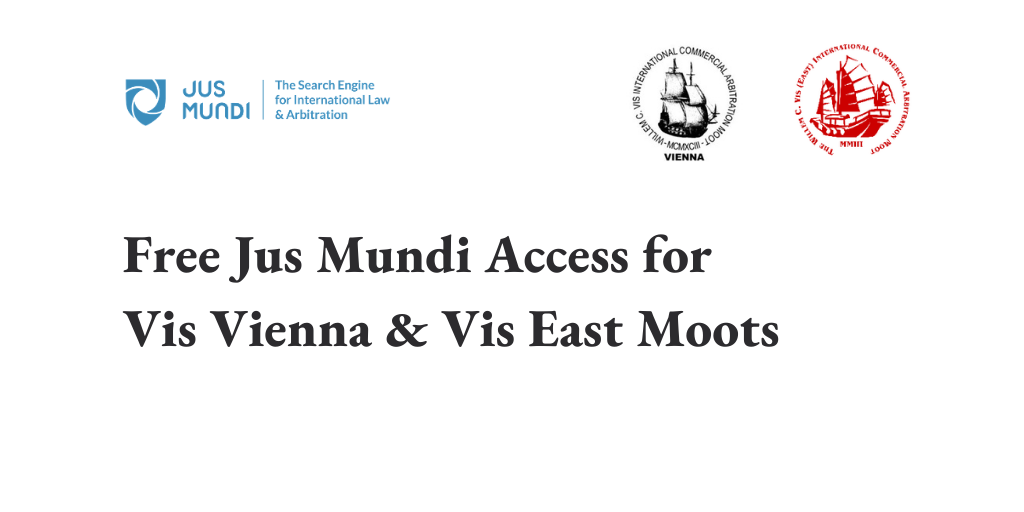 Jus Mundi partnership with Vis Vienna & Vis East moots