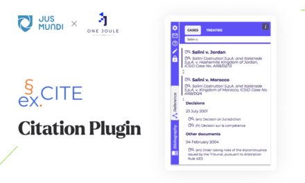 Jus Mundi & One Joule to launch an automatic legal citation tool
